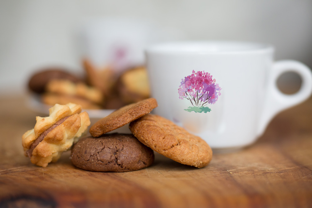 biscuits in white bag,the crepe myrtle tea & coffee rooms ,stroud,handmade