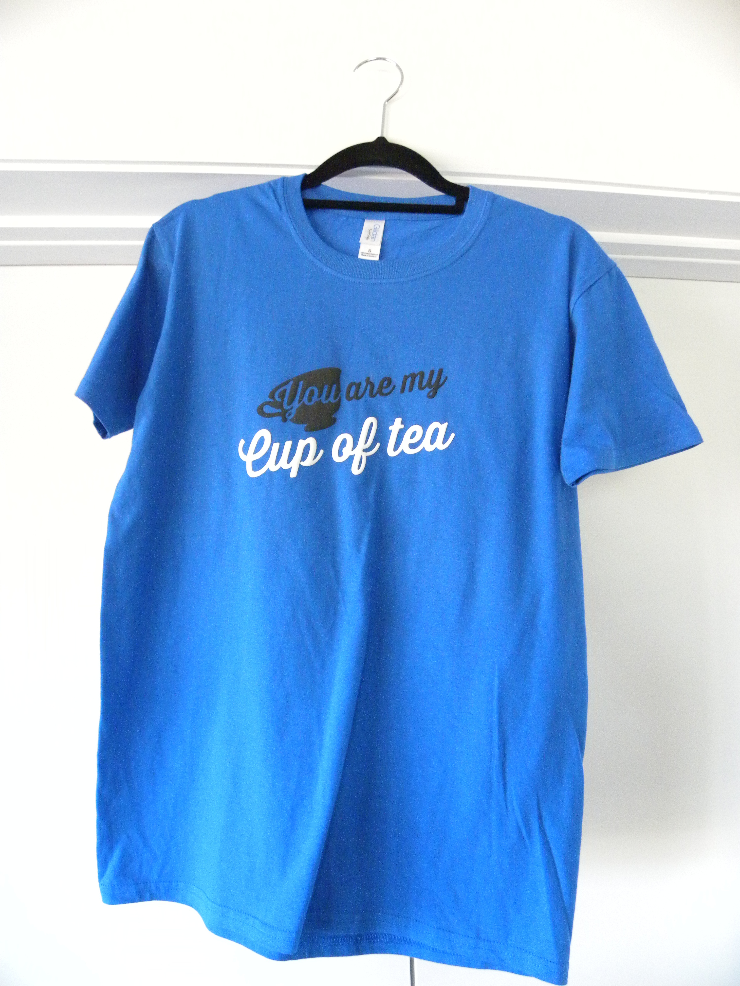 blue you are my cup of tea shirt