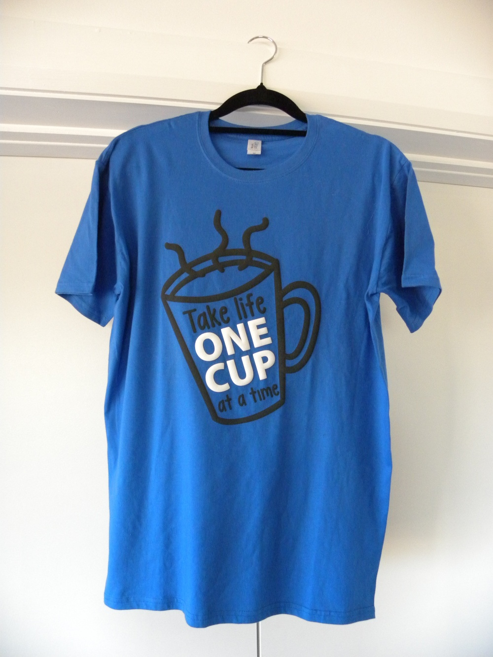 blue take life one cup at a time shirt