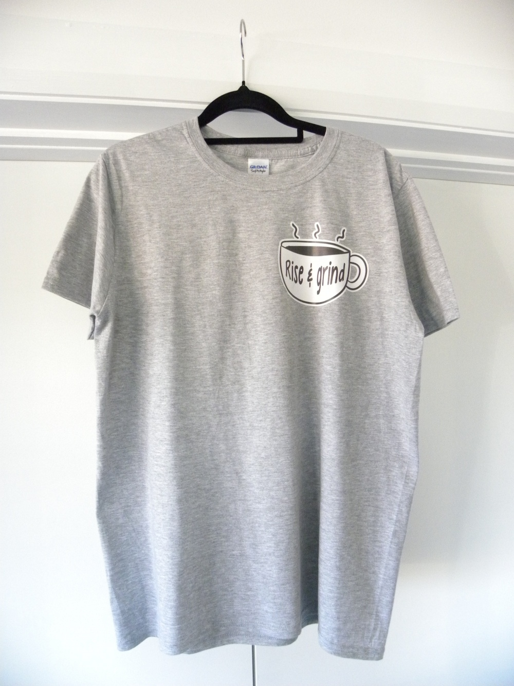 grey rise and grind custom designed shirt