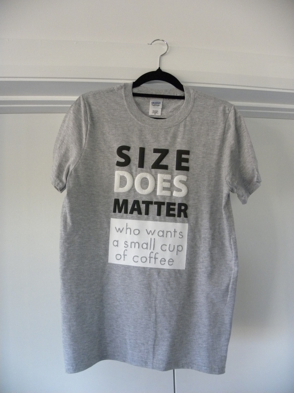 grey size does matter shirt