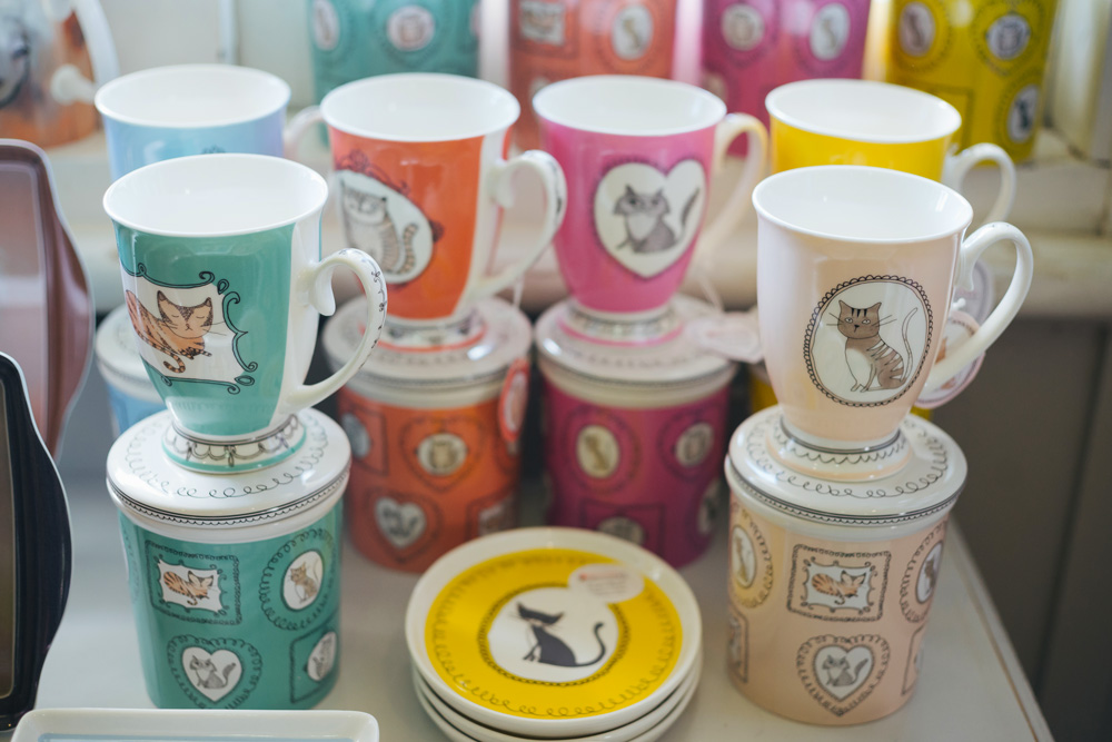 cups with cat pictures