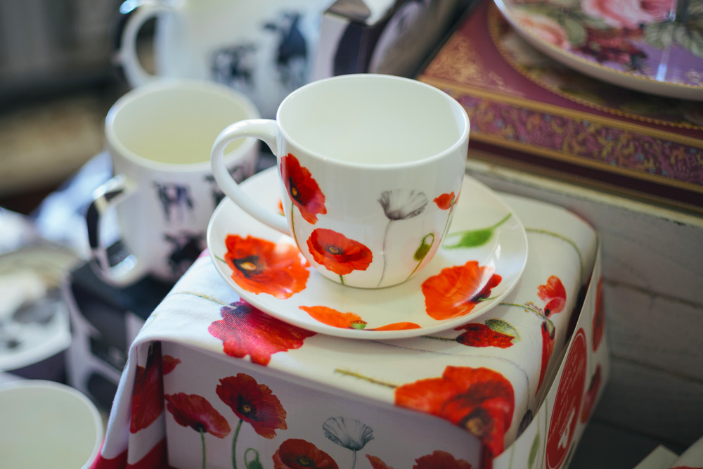 poppy cup and saucer merchandise