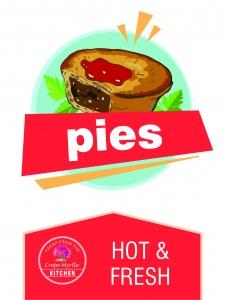 pies, stroud, coffee, crepe myrtle